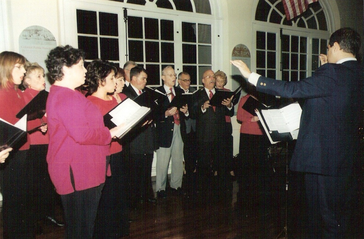 Conducting the OLDP choir